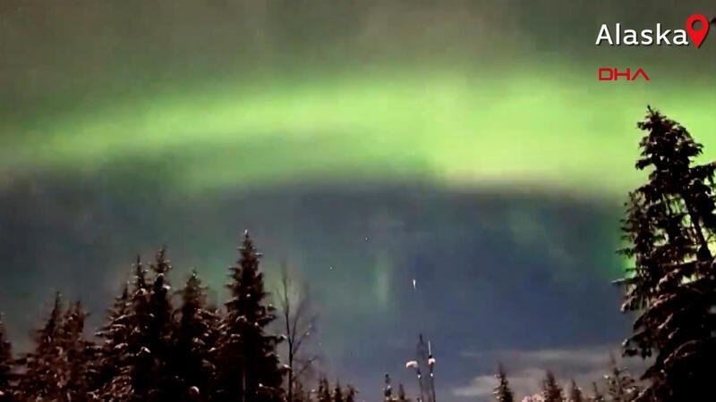 Kuzey ışıkları, Alaska semalarında eşsiz görüntüler oluşturdu