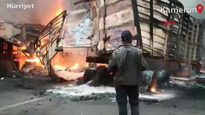 Kamerun'da yolcu otobüsüyle kamyon çarpıştı:  53 ölü, 29 yaralı