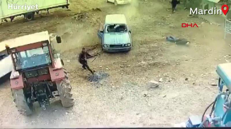 Mardin'de silahlı arazi kavgası böyle kaydedildi