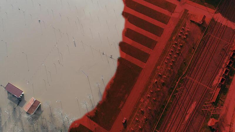 """Ergene Nehri'ndeki taşkın riski """"kırmızı alarm"""" seviyesine yükseldi"""