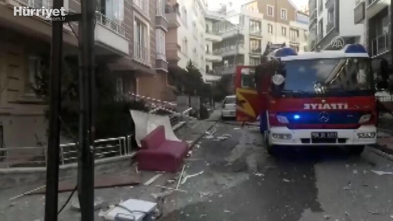 Keçiören'de bir evde patlama meydana geldi