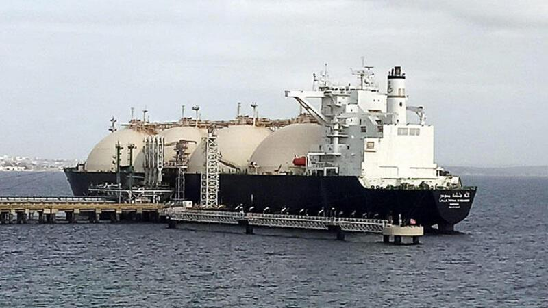 Dünyanın en büyük LNG gemilerinden NSoumer, Tekirdağ'da