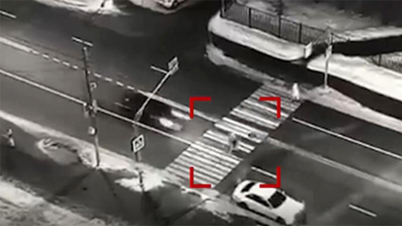 Rusya'da alkollü sürücünün dehşet saçtığı anlar kamerada