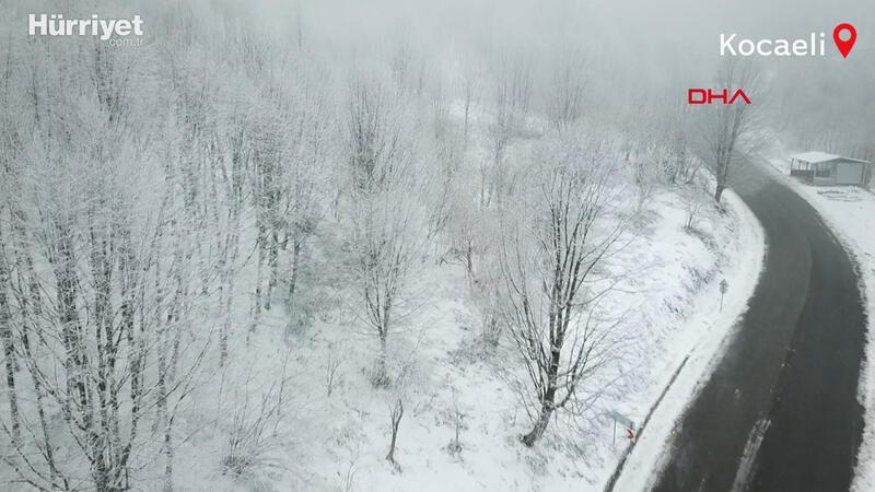 Kartepe'de kar etkili oldu