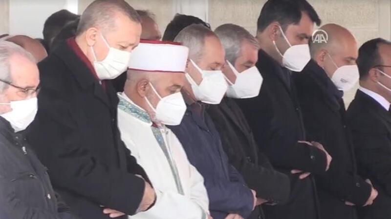 Cumhurbaşkanı Erdoğan Hafız Abdullah Nazırlı için düzenlenen cenaze törenine katıldı
