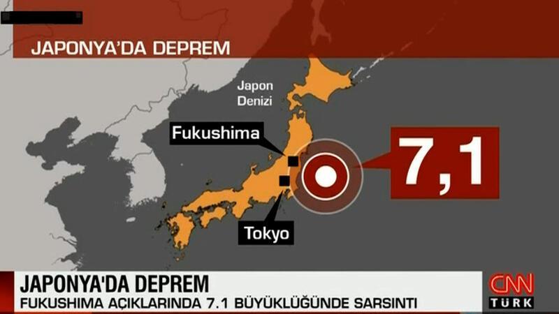 Japonya'da 7.1 büyüklüğünde deprem meydana geldi