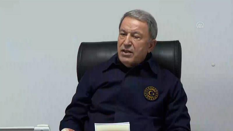 """Milli Savunma Bakanı Akar'dan """"Pençe Kartal-2 Harekatı"""" açıklaması"""