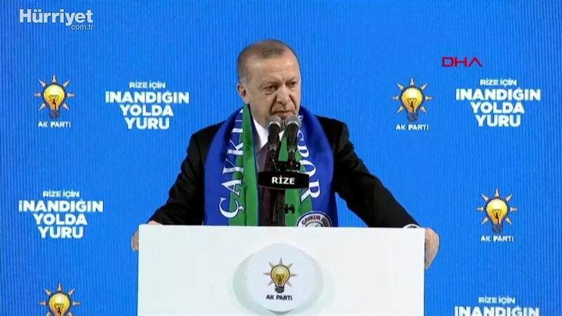Cumhurbaşkanı Erdoğan, Rize 7. Olağan İl Kongresi'nde konuştu