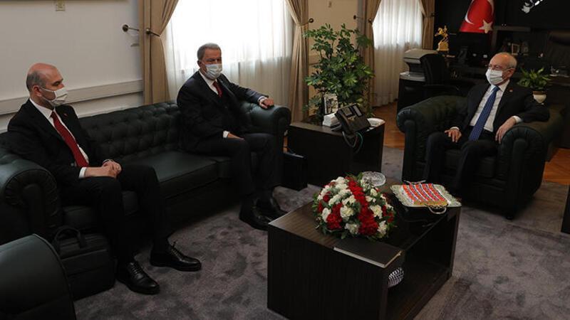Milli Savunma Bakanı Hulusi Akar ve İçişleri Bakanı Süleyman Soylu, siyasi partileri ziyaret ediyor