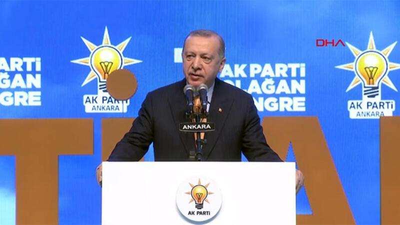Cumhurbaşkanı Erdoğan'dan partisinin 7. Olağan İl Kongresi'nde açıklamalarda bulundu