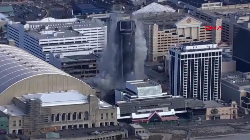 ABD eski Başkanı Donald Trump'ın oteli saniyeler içinde yıkıldı