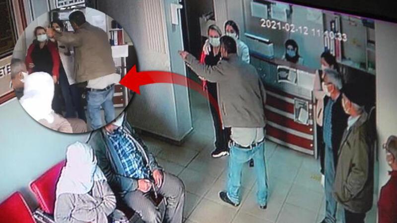 Aile Sağlığı Merkezi'nde pantolonunu indirip hakaretler yağdırdı!