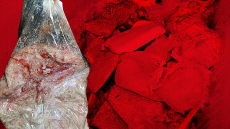 Adana'da bir markette 250 kilo bozulmuş et ele geçirildi