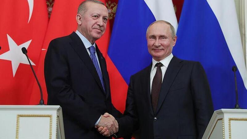 Cumhurbaşkanı Recep Tayyip Erdoğan, Putin ile görüştü