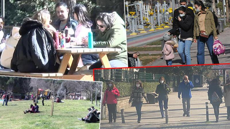 Kadıköy'de güneşli havayı gören vatandaşlar parklara akın etti
