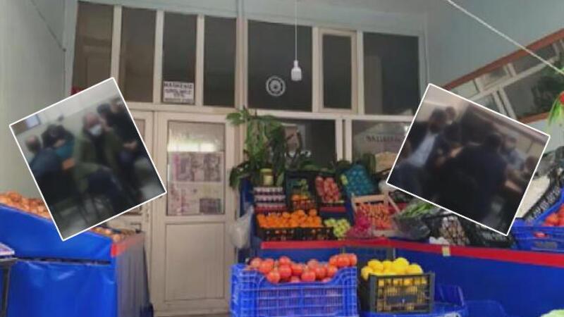 Kağıthane'de girişte manav olarak görünen kahvehaneye polis baskın yaptı