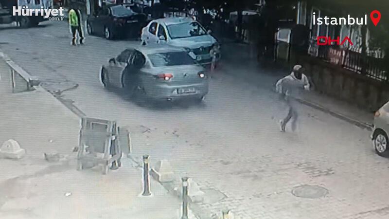 Otomobil hırsızlarını trafik polisi ateş açarak durdurmaya çalıştı