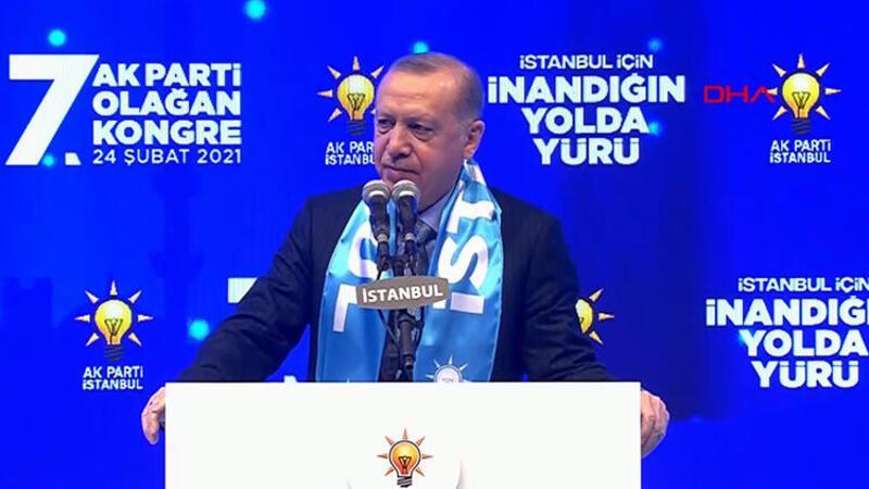 Cumhurbaşkanı Erdoğan, AK Parti İstanbul 7. Olağan İl Kongresi'ne katıldı