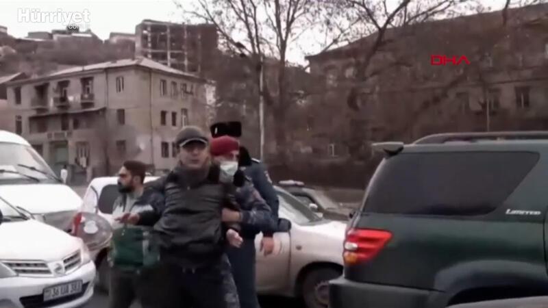 Ermenistan sokaklarında hareketli dakikalar