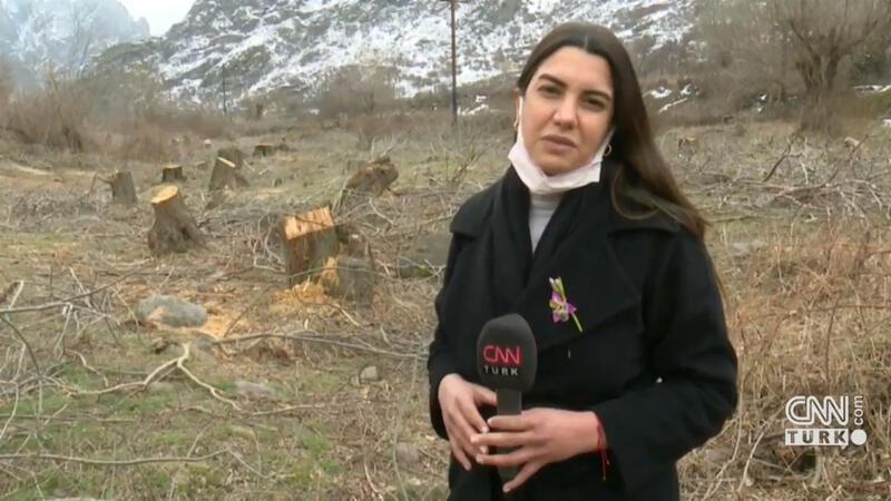 Karabağ'ın en stratejik noktası! Giderken ağaçları bile kesmişler!