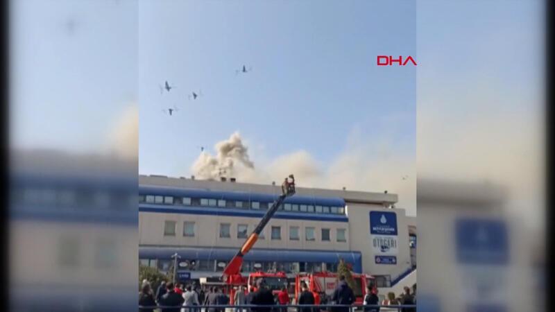 Bayrampaşa'da otogarda yangın çıktı