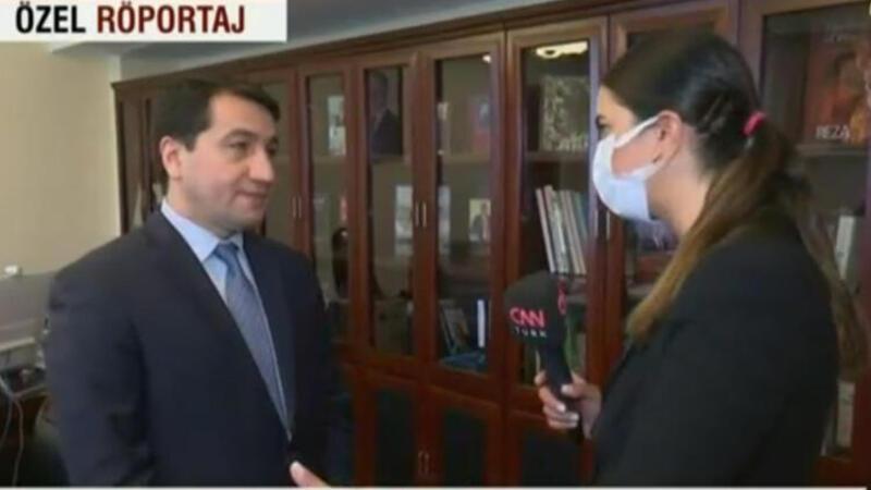Azerbaycan Cumhurbaşkanı Yardımcısı Hikmet Hacıyev CNN Türk'e açıklamalarda bulundu