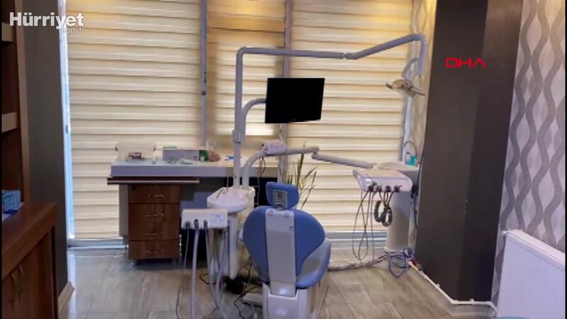 Esenyurt'ta kaçak işletilen diş  muayenehanesine baskın
