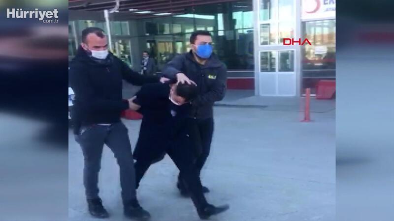Çiğ köfteciyi döven kişi gözaltına alındı