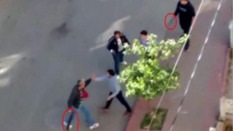 Antalya'da bıçaklı, pompalı tüfekli kavga kameralara yansıdı