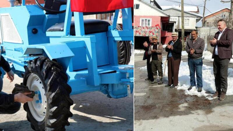 Zonguldak'ta 'Yerli Elon Musk' tekne motorundan traktör yaptı
