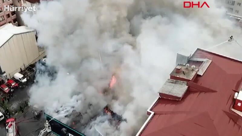Ataşehir'de fabrikada  yangın çıktı
