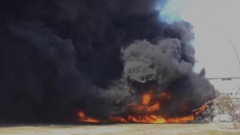Manisa'da dericiler sitesinde yangın