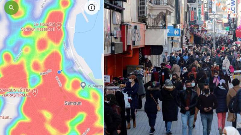 Samsun'da koronavirüs risk haritası yeniden 'kırmızı'