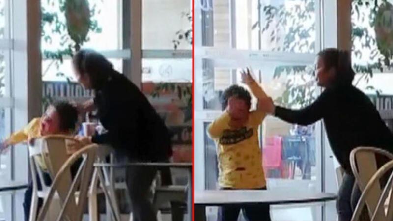 Ankara'da tepki çeken görüntü! Küçük çocuğu acımasızca darp etti