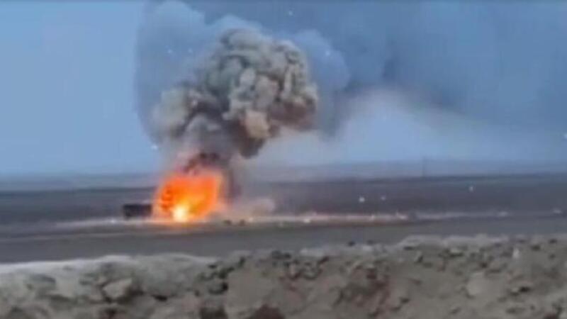 Suriye'de Mehmetçiğin durdurduğu patlayıcı yüklü araç imha edildi