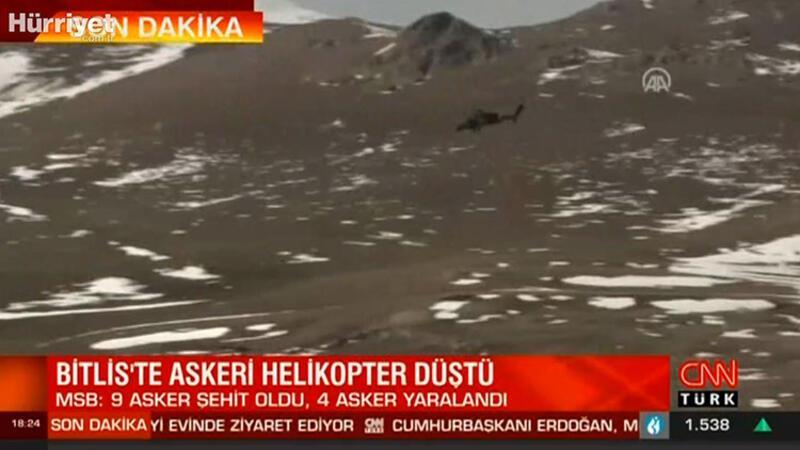 Son dakika: Bitlis'te askeri helikopter düştü