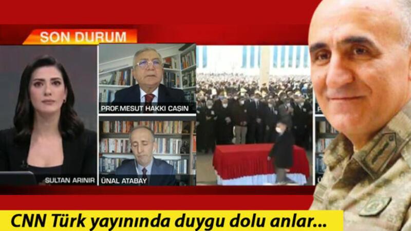 CNN Türk canlı yayınında duygu dolu anlar