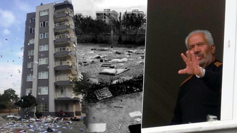 Antalya'da bir kişi eline geçeni balkondan attı