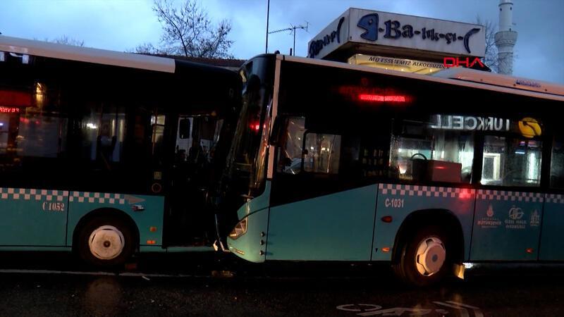 Halk otobüsünün freni boşaldı, facianın eşiğinden dönüldü!