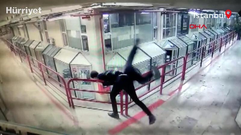 Şişli'de saldırdığı esnafı 12. kattan aşağı attı o anlar kamera