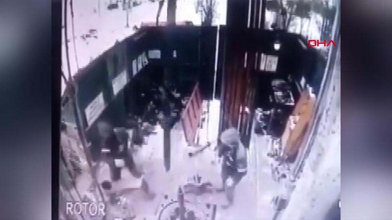 İnşaat alanındaki iş kazası kamerada