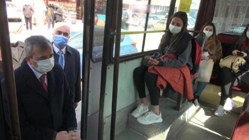 Kırıkkale'de, toplu taşıma araçlarında denetim