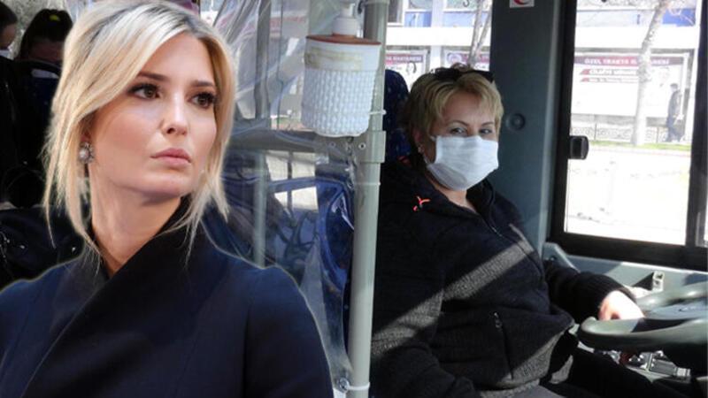 Ivanka Trump'ın dünyaya tanıttığı midibüs şoförü Pelin, 8 Mart'ı direksiyon başında geçirdi