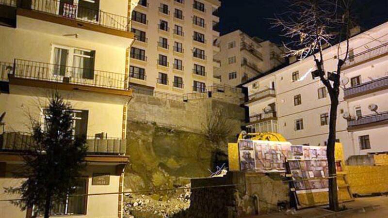 Çankaya'da temeli kayan bina nedeniyle çok sayıda bina boşaltıldı