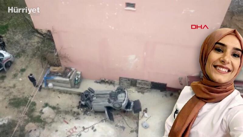 Otomobiliyle 15 metrelik istinaf duvarından uçan hemşire, yaşamını yitirdi