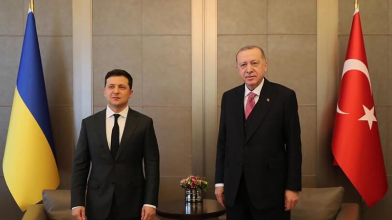 Cumhurbaşkanı Erdoğan ile Ukrayna Devlet Başkanı Zelenskiy görüşmesi başladı