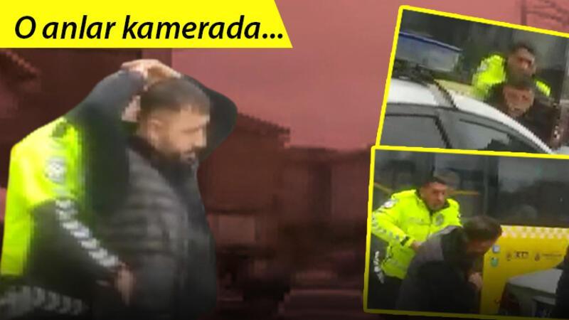 Arnavutköy'de polis ile korsan taksici arasında nefes kesen kovalamaca