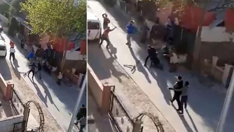 Antalya'da komşuların taşlı sopalı kavgası