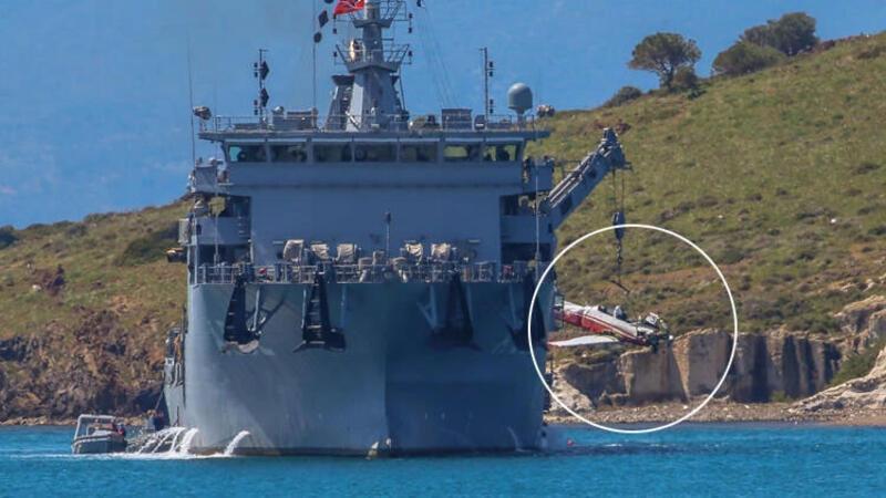 İzmir'de düşen eğitim uçağı denizden çıkarıldı