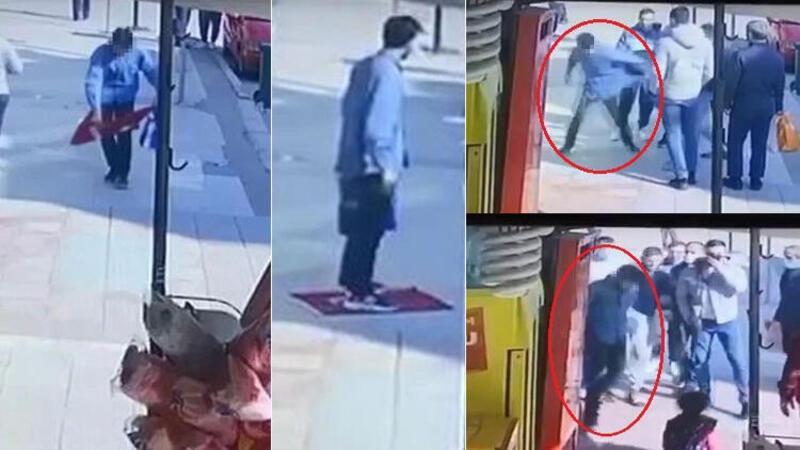 Türk Bayrağı'nı yere serip üzerine bastı, gözaltına alındı